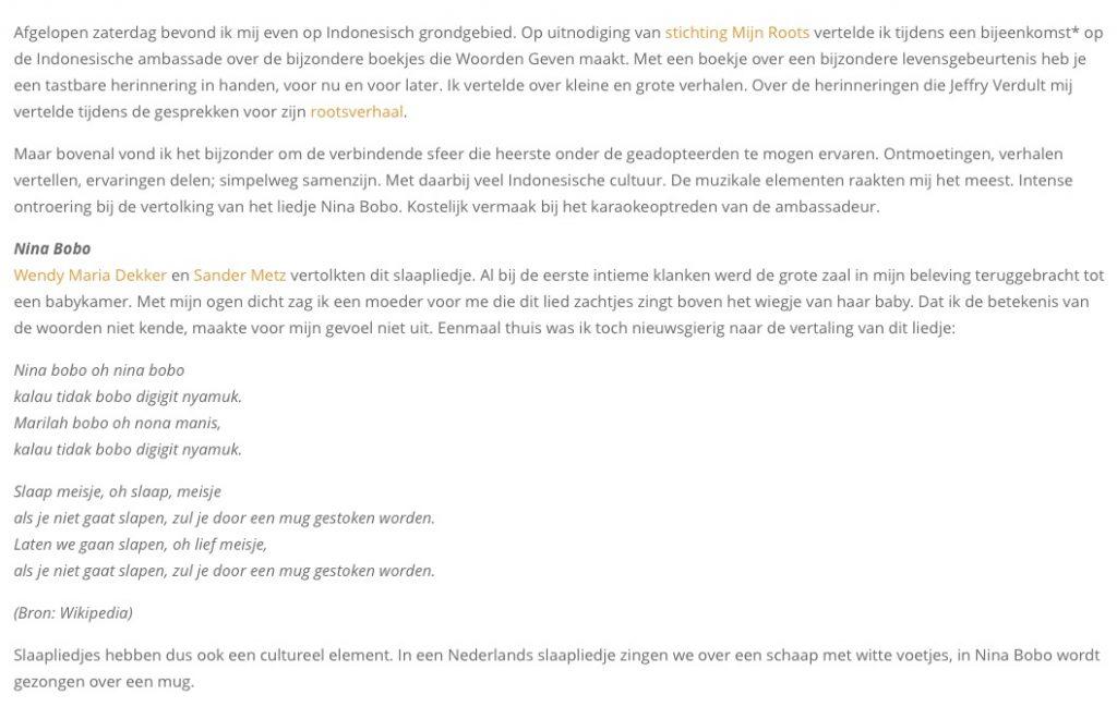 Artikel Samen Zijn Auteur Anne Leendertse Stichting